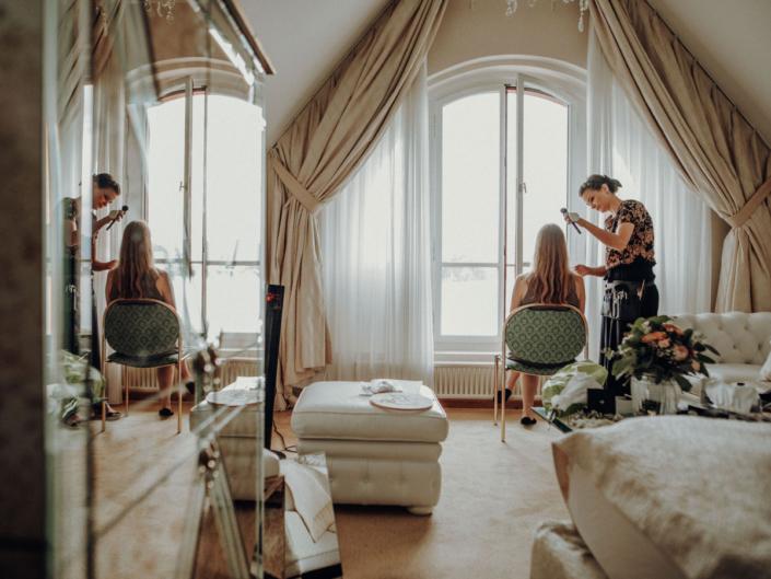 brautstyling, Hochzeitsfrisur